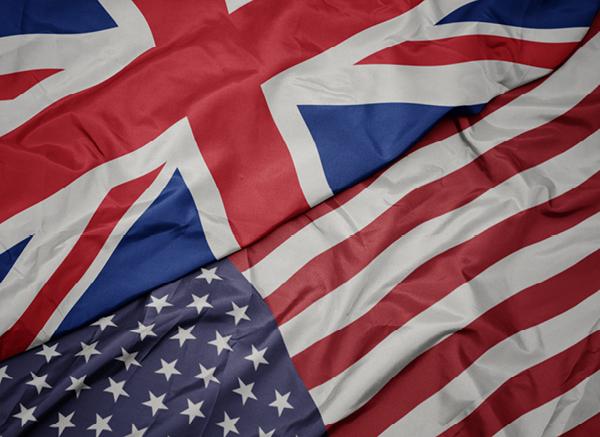 US-UK flags